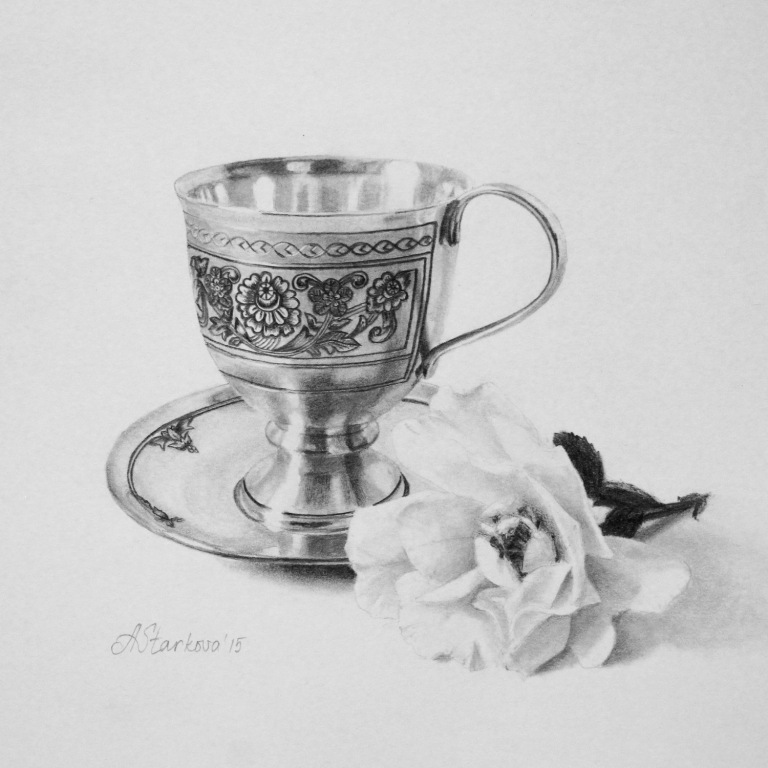 """Tea rose I""<span style=""font-size:30px; color: #c30000;"">•</span>"